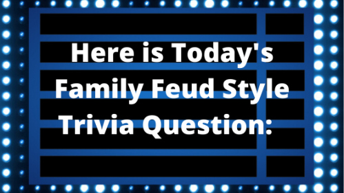Here is Today's Family Feud Style Mystery Question! (1)